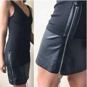 Top Shop Faux Leather Dress
